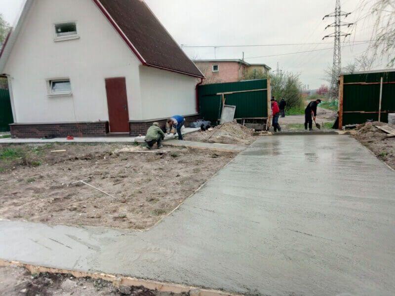 Устройство бетонной площадки в Железнодорожном