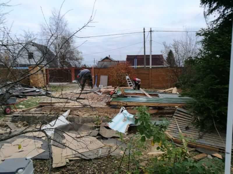 Демонтаж частного дома в Пирогово