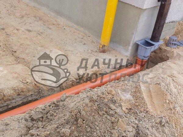 Прокладка труб ливневой канализации