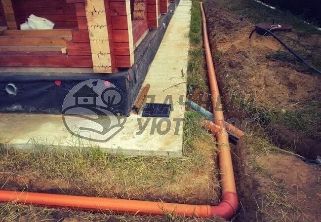 Трубы дренажной канализации