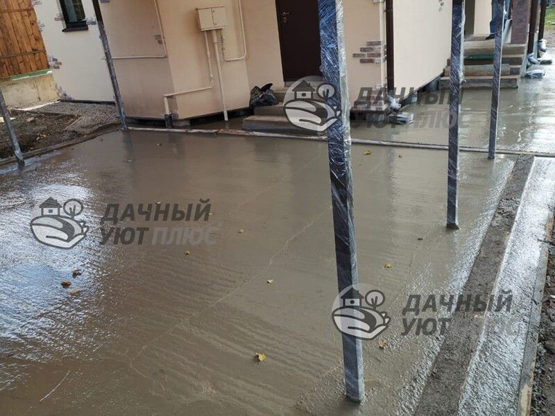 Обустройство бетонной паковки Пыхчево