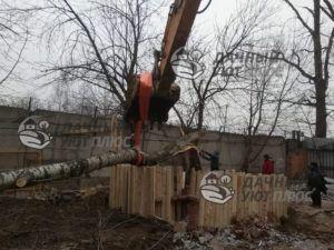 Валка дерева с частичным завешиванием