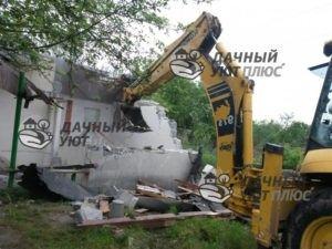 Снос стен дачного дома