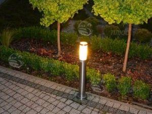 Стоечный LED светильник освещение дорожек на участке