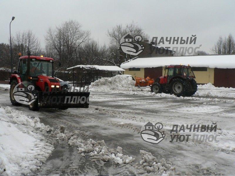 Финишная уборка от снега - очистка от наледи погрузчиками с отвалами