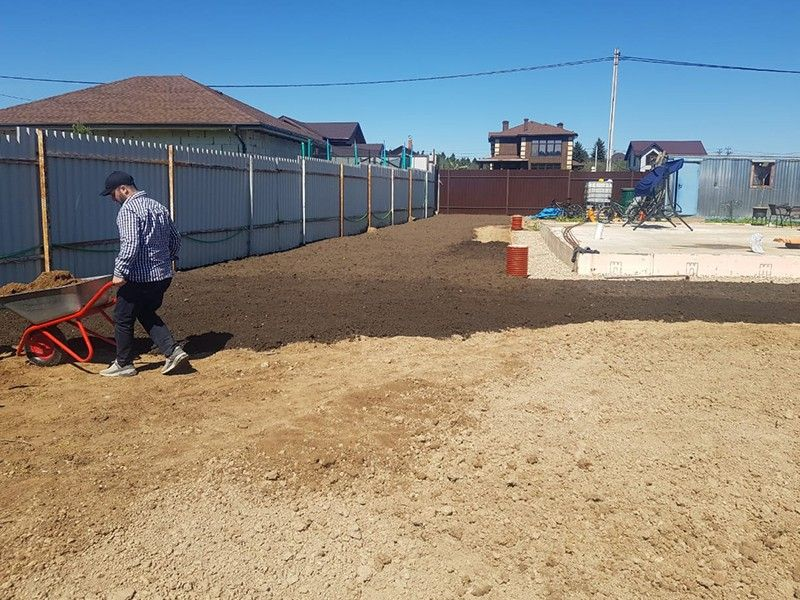 Подготовка посевного газона