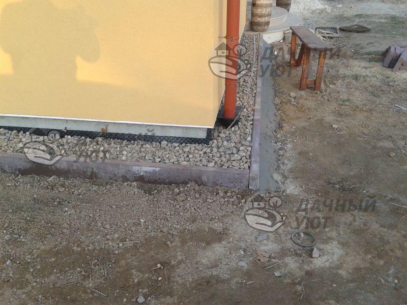 Мягкая отмостка дома в Трубино