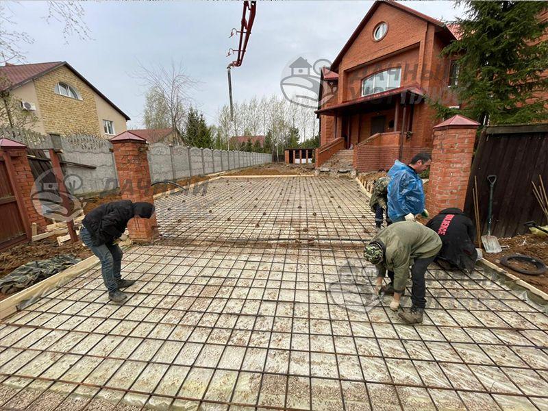 Подготовка площадки для заливки бетоном